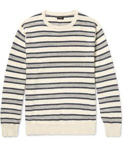 J.Crew | Striped Mélange Knitted Cotton Sweater