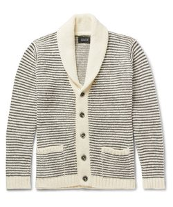 HOWLIN' | Howlin Shawl-Collar Striped Wool Cardigan