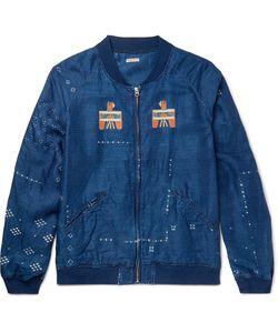 Kapital   Oversized Printed Washed-Linen Blouson Jacket