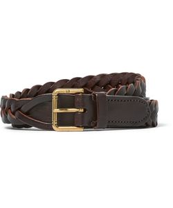 Dunhill | 2.5cm Woven Leather Belt