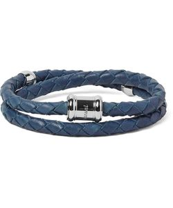 MIANSAI | Double Casing Woven Leather Stainless Steel Bracelet