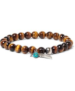 Peyote Bird | Sterling Tigers Eye And Turquoise Bracelet