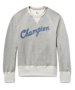 Todd Snyder + Champion | Embroide Fleece-Back Cotton-Blend Jersey Sweatshirt