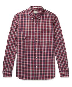 J.Crew   Cooper Checked Washed-Cotton Shirt