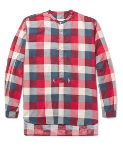 NONNATIVE | Master Slim-Fit Grandad-Collar Checked Brushed-Cotton Shirt