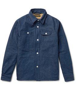 Freemans Sporting Club | Faux Shearling-Lined Washed-Denim Shirt Jacket Dark