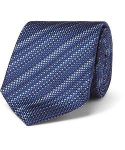 Turnbull & Asser | 8cm Striped Silk-Jacquard Tie