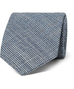 Thom Sweeney | 7.5cm Puppytooth Wool And Silk-Blend Tie