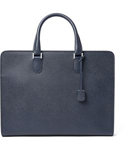 Valextra | Pebble-Grain Leather Briefcase