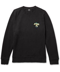 Stüssy | Hippie Crawl Printed Fleece-Back Cotton-Blend Jersey Sweatshirt