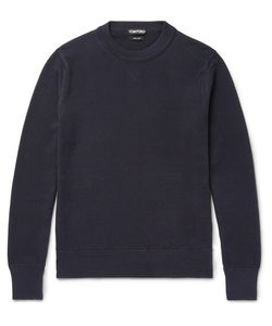 Tom Ford | Waffle-Knit Cotton And Silk-Blend Sweater