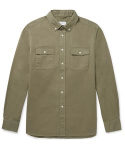 SATURDAYS NYC | Angus Button-Down Collar Broken Cotton-Twill Shirt