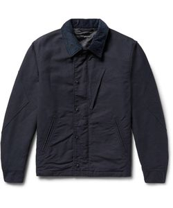 Engineered Garments | Corduroy-Trimmed Cotton-Doublecloth Jacket