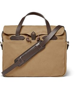 Filson | Original Leather-Trimmed Twill Briefcase