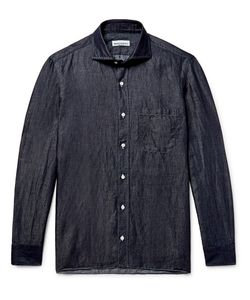 RUBINACCI | Slub Linen And Cotton-Blend Chambray Shirt