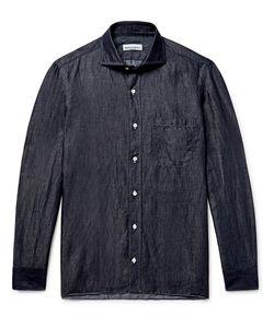 RUBINACCI | Slub Linen And Cotton-Blend Chambray Shirt