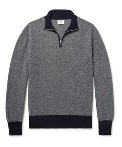 William Lockie | Birdseye Cashmere Half-Zip Sweater