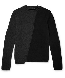 Isabel Benenato | Panelled Merino Wool-Blend Sweater