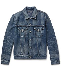 Fabric-Brand & Co | Melik Slim-Fit Distressed Denim Jacket