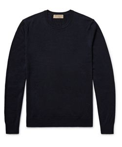 Burberry | Elbow-Patch Cashmere And Cotton-Blend Sweater
