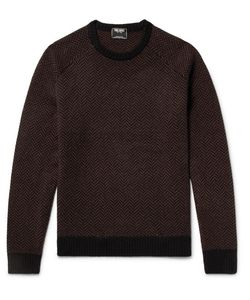 TODD SNYDER | Slim-Fit Herringbone Intarsia Cashmere Sweater