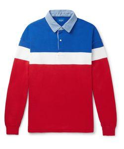 Beams   Colour-Block Cotton Polo Shirt