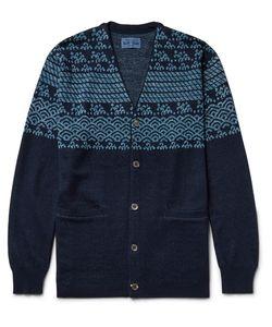 Blue Blue Japan | Cotton And Linen-Blend Jacquard Cardigan