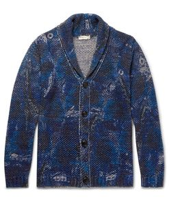 Etro | Shawl-Collar Printed Cotton And Linen-Blend Cardigan
