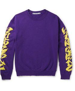 Sasquatchfabrix | . Iroha Distressed Fleece-Back Cotton-Blend Jersey Sweatshirt
