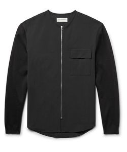 Solid Homme   Stretch Wool-Blend Zip-Up Overshirt