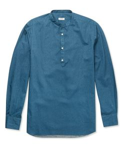 Eidos | Slim-Fit Grandad-Collar Denim Shirt