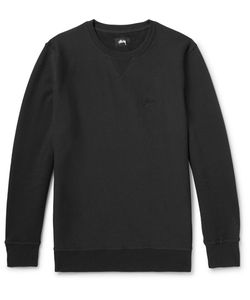 Stüssy | Embroidered Loopback Cotton-Jersey Sweatshirt