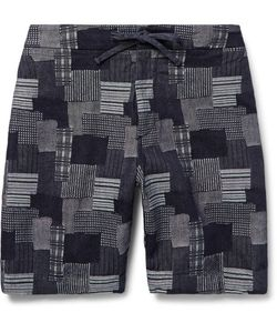 Freemans Sporting Club | Emmett Slim-Fit Patchwork Cotton-Jacquard Shorts