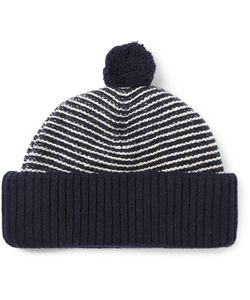 Oliver Spencer | Dock Striped Wool Bobble Hat