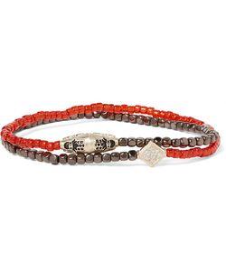 LUIS MORAIS | Hematite And Diamond Wrap Bracelet