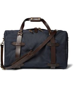 Filson | Leather-Trimmed Twill Duffle Bag