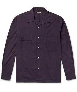 Camoshita | Slim-Fit Camp-Collar Checked Cotton-Blend Shirt