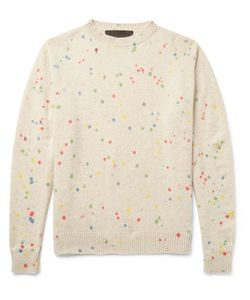 The Elder Statesman   Printed Cashmere Sweater