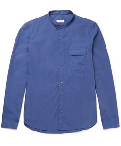 Boglioli | Grandad-Collar End-On-End Cotton Shirt