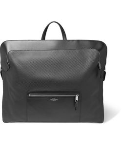 Smythson | Greenwich Leather-Trimmed Cotton Garment Bag