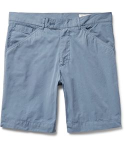 Officine Generale | Garment-Dyed Cotton-Poplin Shorts