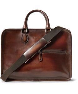 BERLUTI   Deux Jours Polished-Leather Briefcase