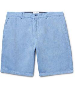 Club Monaco | Maddox Linen And Cotton-Blend Oxford Shorts Light