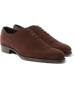 Kingsman | George Cleverley Merlin Whole-Cut Suede Oxford Shoes