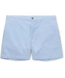 Officine Generale | Roman Slim-Fit Mid-Length Seersucker Swim Shorts