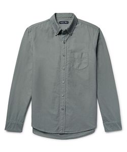 ALEX MILL | Button-Down Collar Overdyed Cotton Oxford Shirt