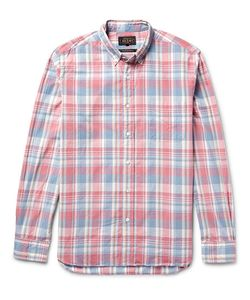Beams Plus | Slim-Fit Button-Down Collar Checked Cotton Shirt
