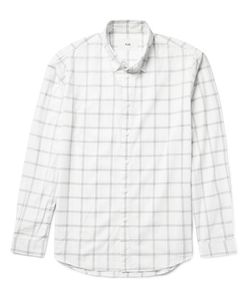 Folk | Storm Windowpane-Checked Cotton-Voile Shirt