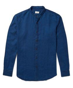 Club Monaco | Slim-Fit Grandad Collar Slub Linen Shirt