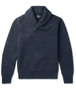 RRL | Shawl-Collar Mélange Cotton Sweater